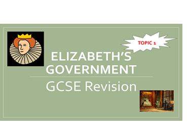Elizabethan Age GCSE History 9-1