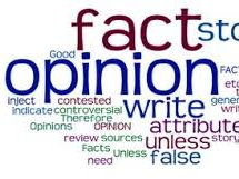 Fact and Opinion - Whats the difference?