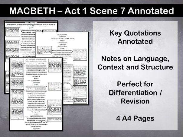 Macbeth Act 1 Scene 7 Annotated