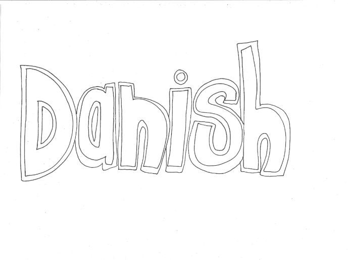 Danish: Countries and Languages Colouring Page