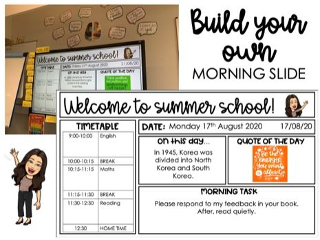 BUILD YOUR OWN Morning Slide