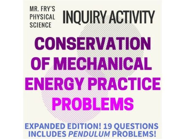 Conservation of Mechanical Energy Problems  (HS-PS3-2)
