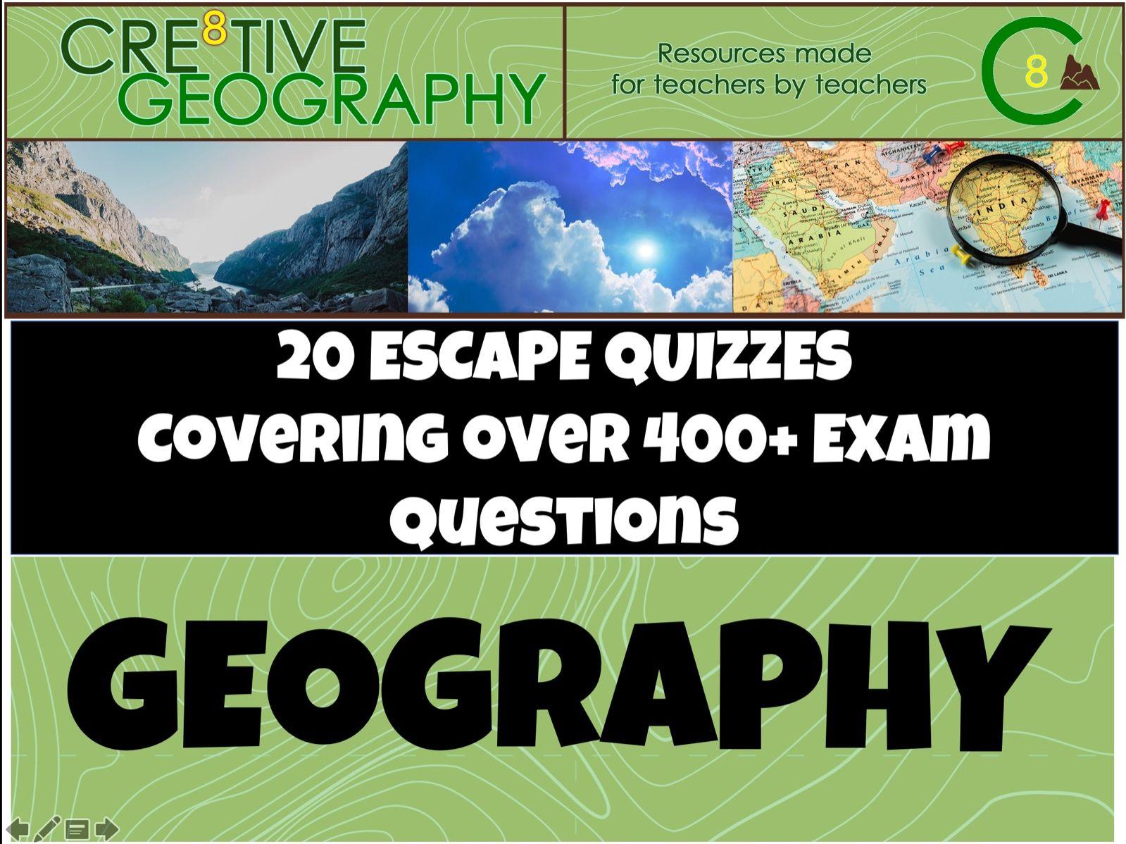 Geography Escape Quiz Bundle