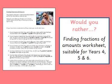 finding fractions of amounts worksheet by b  teaching  finding fractions of amounts worksheet by b  teaching resources   tes
