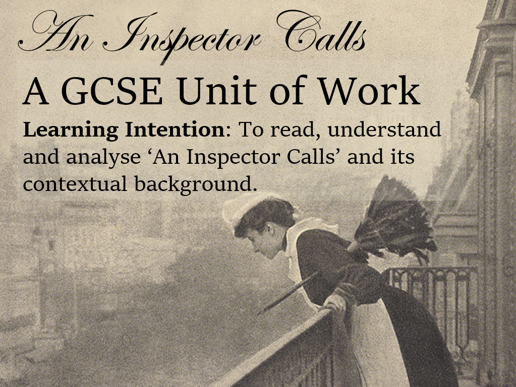 An Inspector Calls Complete Unit of Work