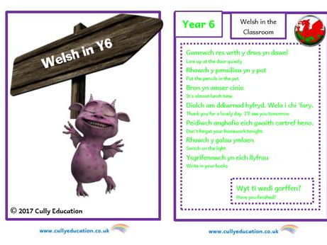 Incidental Welsh Booklet for the Y6 Classroom