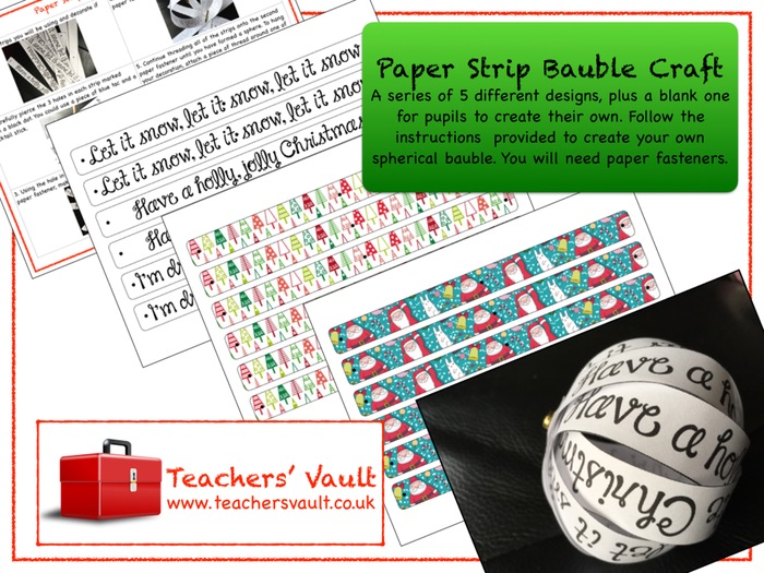 Paper Strip Christmas Bauble Craft