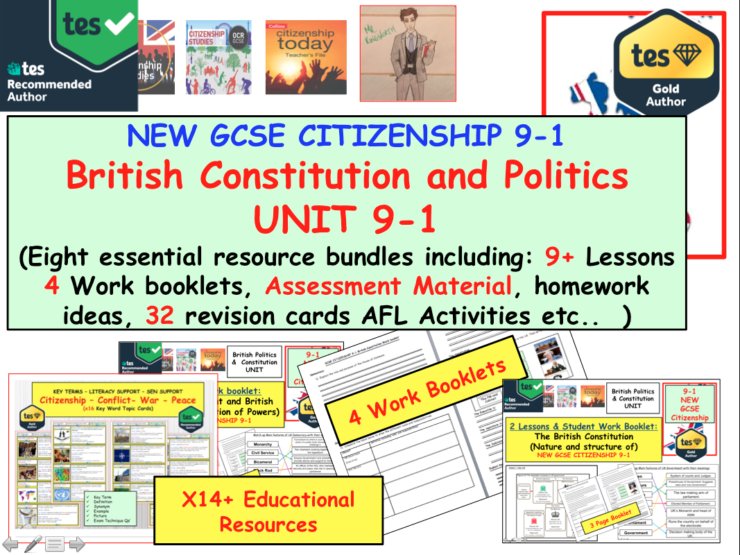 NEW GCSE CITIZENSHIP 9-1 British constitution and Politics UNIT.