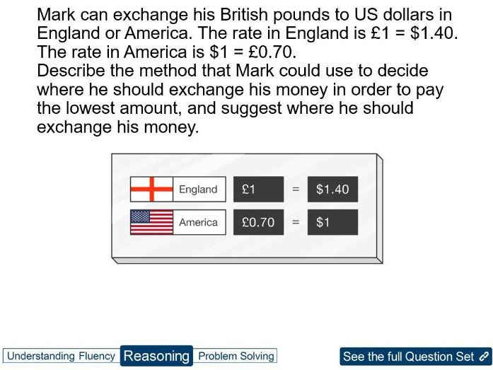 Year 9 Proportion: proportion using currency