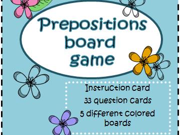 Preposition Board Game