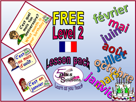 Primary French FREE WHOLE LESSON:Leçon 1 To identify months of the year (KS2 Level 2)