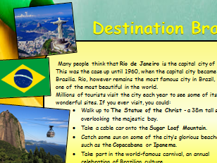 Information Text about Brazil Comprehension Activity