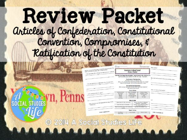 Articles of Confederation Review Packet