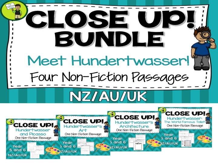 Reading Comprehension Texts - Higher Order Thinking: Hundertwasser (UK/AU/NZ)