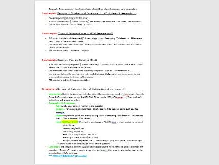 Edexcel A level Geography Exam question structure