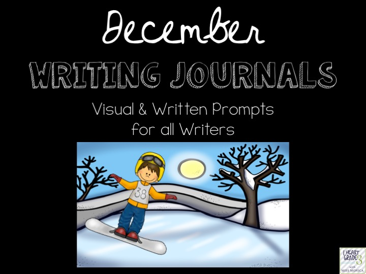 December Journals with Visual & Written Prompts