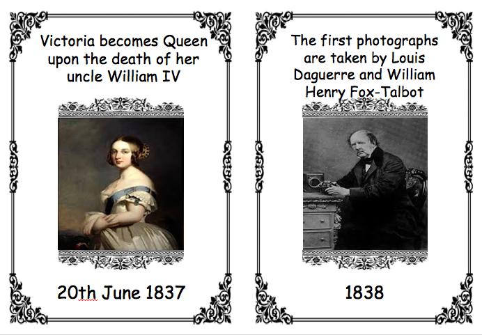 Victorian Era Timeline Cards
