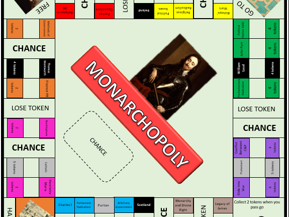 Monarchopoly - English Revolution revision game