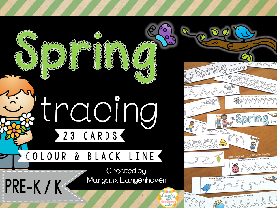 Spring Tracing (Fine Motor and Vocabulary Development)