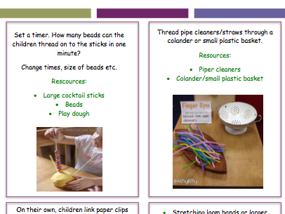 Funky Finger Activities and Ideas