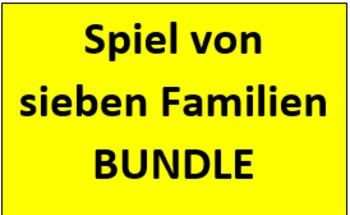 Spiel von sieben Familien German Vocabulary Bundle