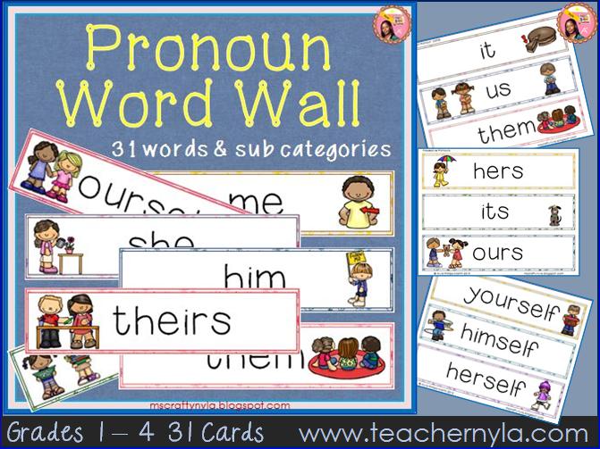 Pronoun Word Wall