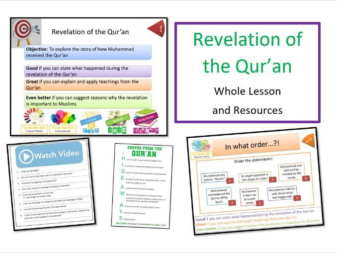 Revelation of the Qur'an - Whole Lesson as part of 'Who Was Muhammad?' Unit