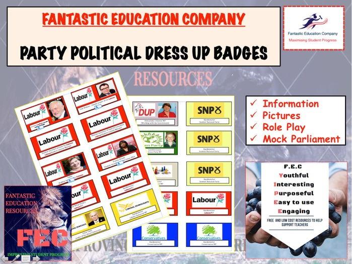 Party Politics 2017 Election badges
