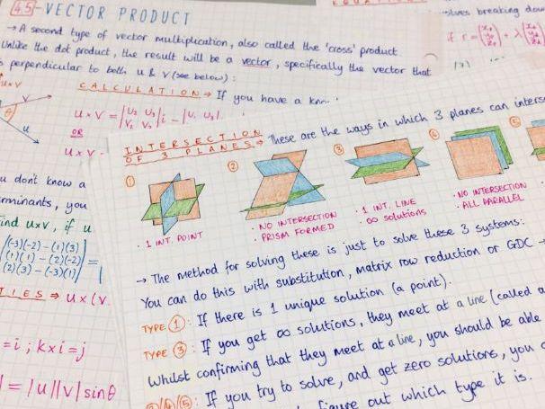 IB Maths HL - Topic 4 Vectors - Notes