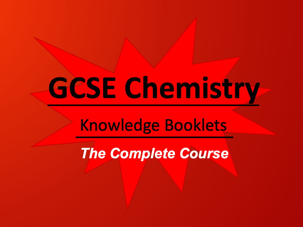 AQA Chemistry The Complete Course: Knowledge Booklets