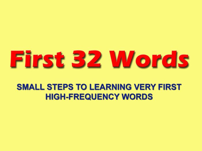 FIRST 32 WORDS