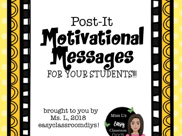 Post-it Motivational Messages