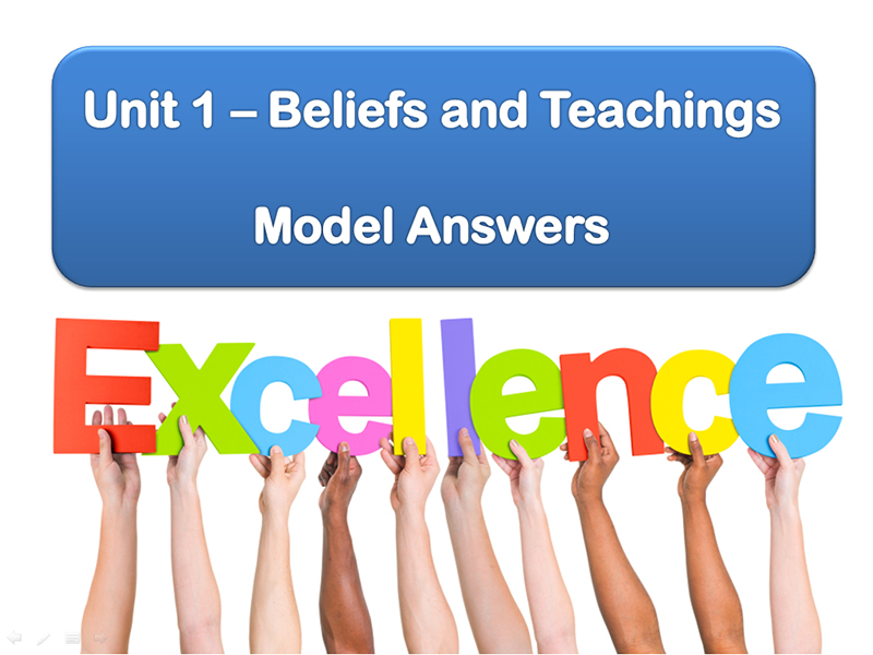 Model Answers: Unit 1 Beliefs and Teachings (Edexcel Catholic Christianity)