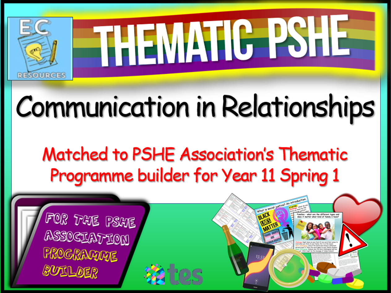 Thematic PSHE Communication in Relationships