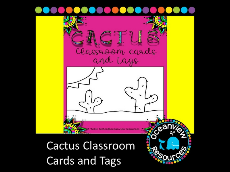 Cactus Themed Gift Cards and Tags