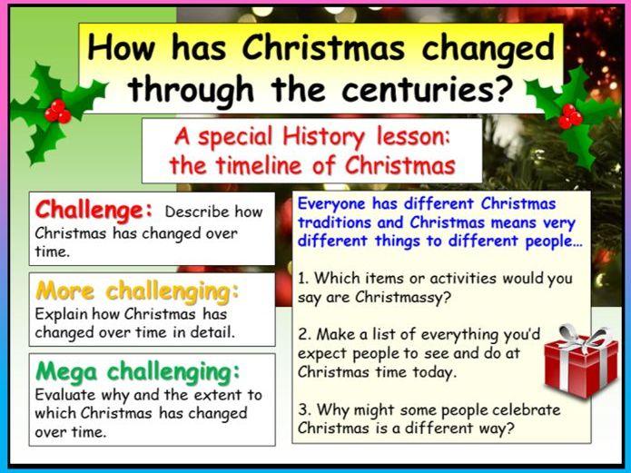 History Christmas Lesson