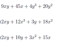 Factorisation by grouping worksheet no 3 (with solutions)
