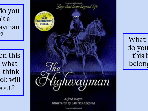 Guided Reading Planning - The Highwayman