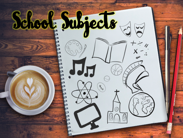 Back To School - School Subjects Clipart