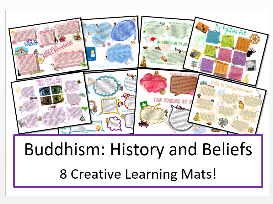 Buddhism: History and Beliefs Learning Mat Bundle