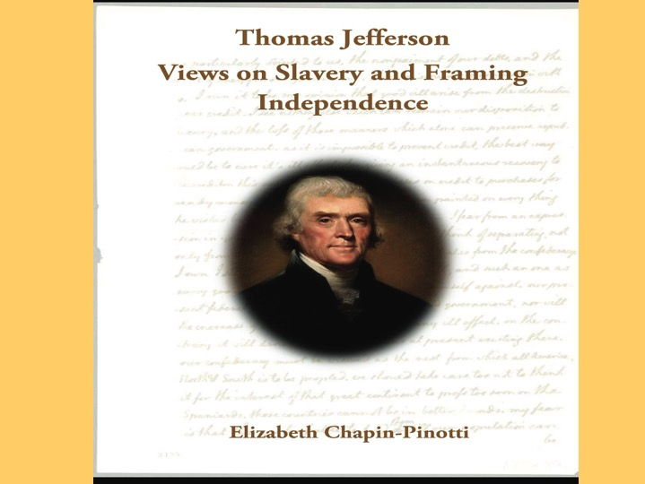 thomas jefferson and slavery in virginia Thomas jefferson: liberty & slavery jefferson's antislavery actions to take action to end slavery in 1778 he introduced a virginia law prohibiting the.
