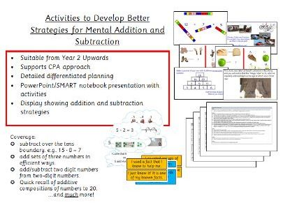 Mental Addition and Subtraction - Activities to Develop Pupil Strategies