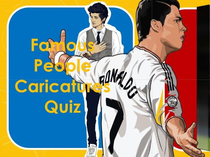 Quiz: 2017: Famous People Caricatures