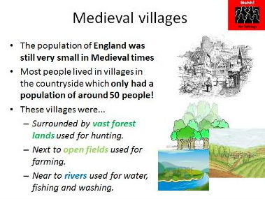 Medieval England- the features and rules of a Medieval village (could be a group work lesson too)