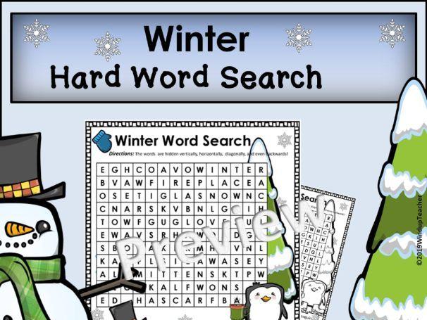 Winter Word Search *Hard