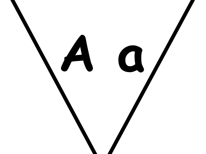 Alphabet banner (upper and lower case)