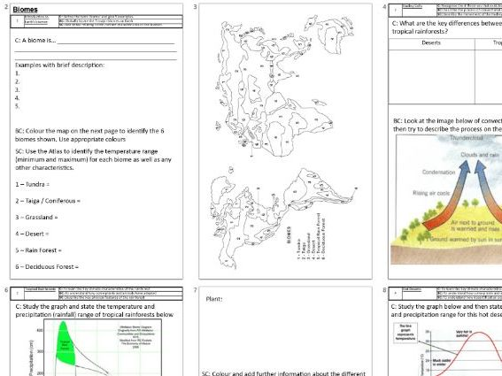 KS3 Biomes and climate change booklet