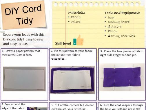 Step by Step Cord Tidy