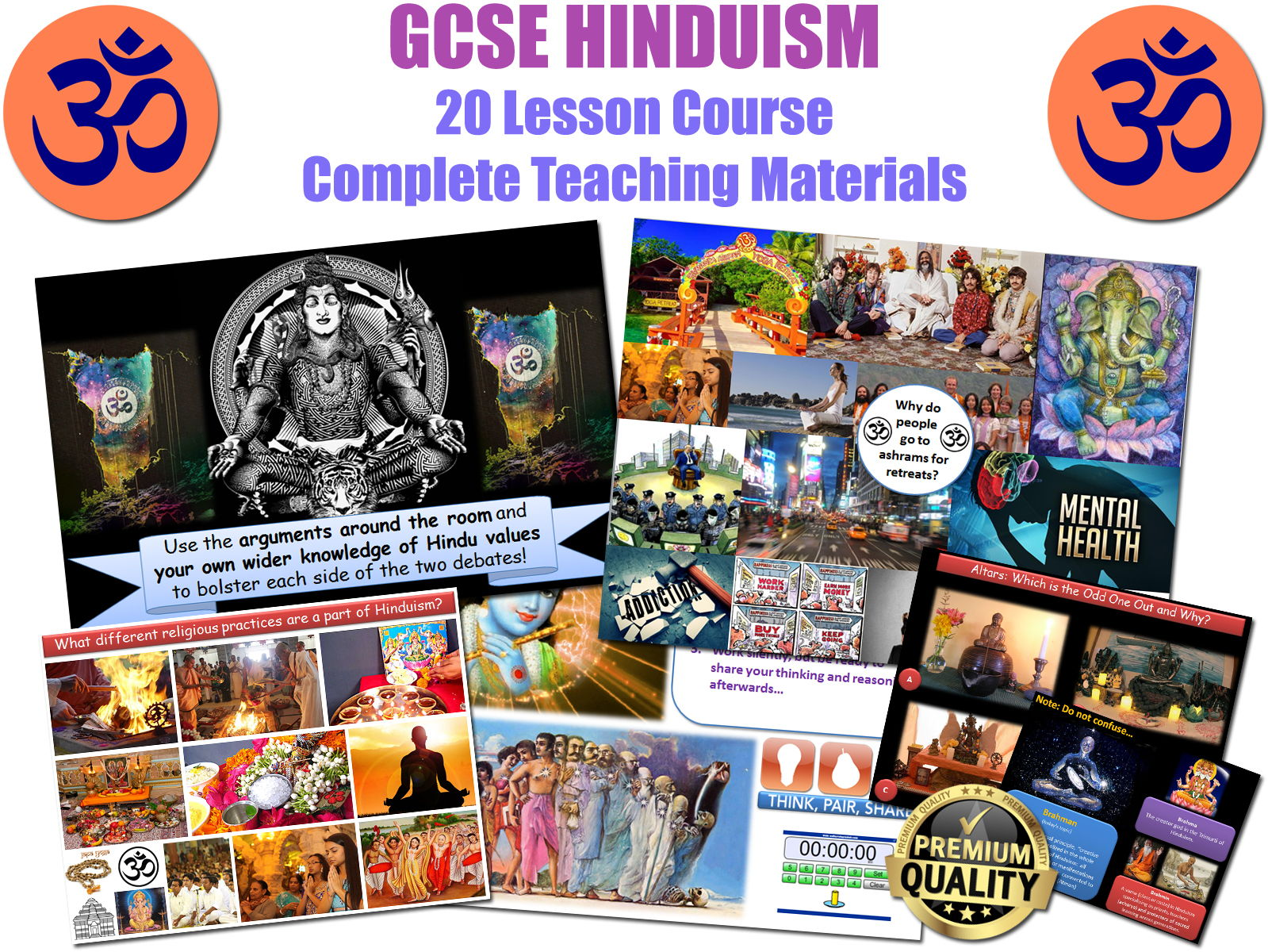 GCSE HINDUISM (OCR B / AQA) 20 Lessons - Very High Quality - Complete Resources - NEW SPECIFICATION!