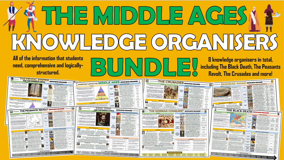 The Middle Ages - Knowledge Organisers Bundle!